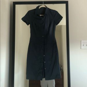 Theory Navy Shirt Dress 0
